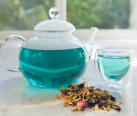 Butterfly Pea Flower, Jasmine flowers, HIbiscus tea, white peony tea