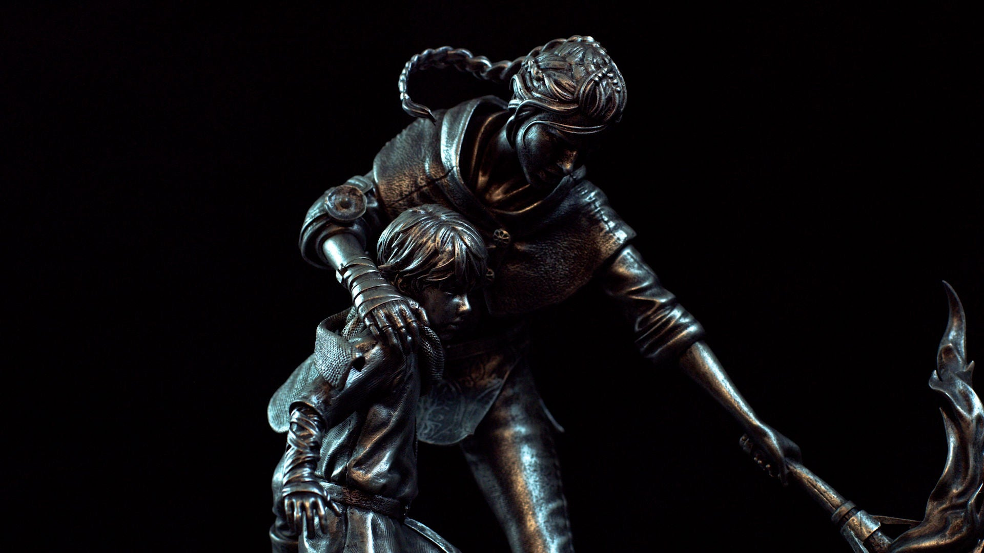 A Plague Tale Statue Amicia Side