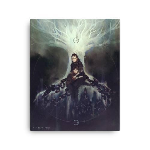 A Plague Tale - De Rune Family - Art Canvas Print