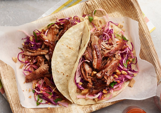 Aussie Lamb Carnitas with Habanero Cabbage and Roasted Peanuts