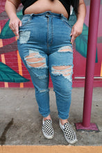 Load image into Gallery viewer, DiSTRESSED Denim - Medium Wash