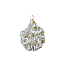 Load image into Gallery viewer, gold wrapped selenite desert rose necklace