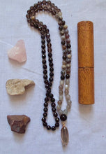 Load image into Gallery viewer, steady moon black tourmaline and moonstone mala beads