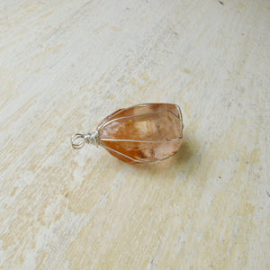 pre-order gold wrapped smoky quartz crystal necklace