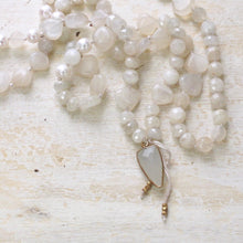 Load image into Gallery viewer, gentle love moonstone heart layering necklace