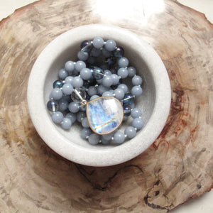 the way of the truth angelite mala beads