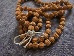grounding sandalwood mala beads