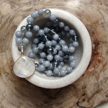 Load image into Gallery viewer, the way of the truth angelite mala beads