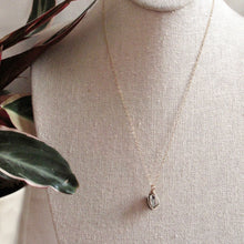 Load image into Gallery viewer, gold wrapped pyrite crystal necklace