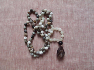 soften and smile jasper mala beads
