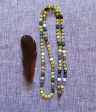 Load image into Gallery viewer, personal strength vintage glass mala beads