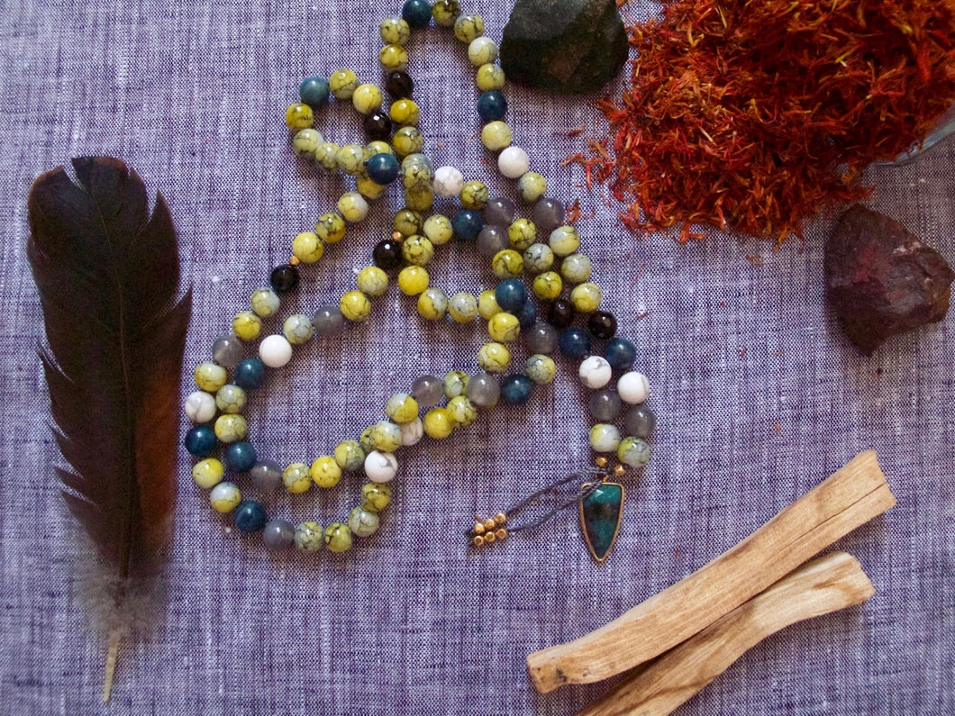 personal strength vintage glass mala beads