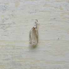 Load image into Gallery viewer, silver wrapped small tangerine quartz necklace