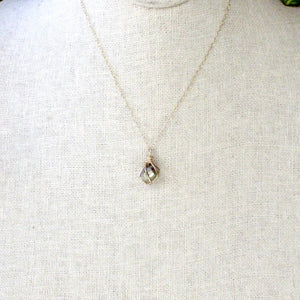 gold wrapped pyrite crystal necklace ii