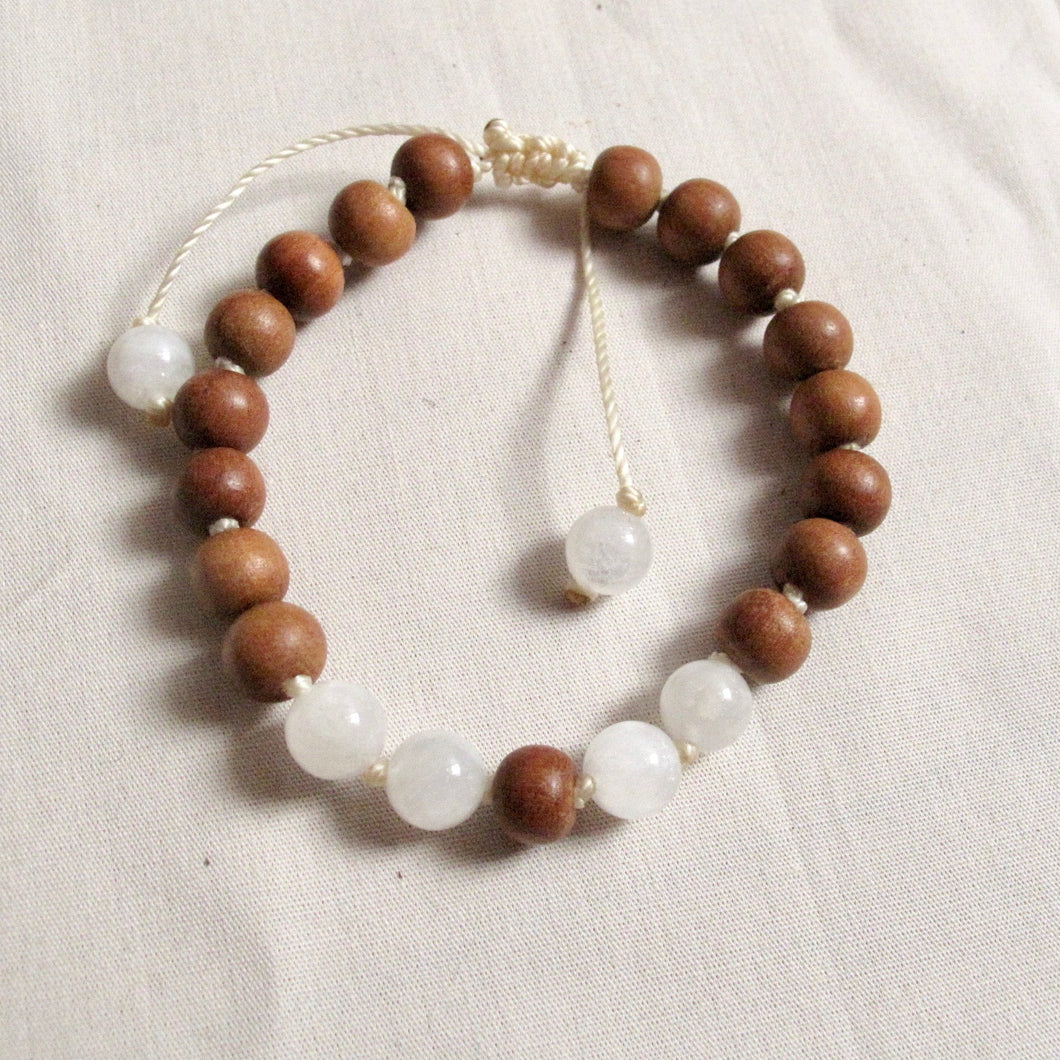 sandalwood and creativity wrist mala