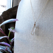 Load image into Gallery viewer, gold wrapped crystal quartz necklace
