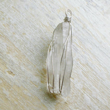 Load image into Gallery viewer, silver wrapped crystal quartz necklace