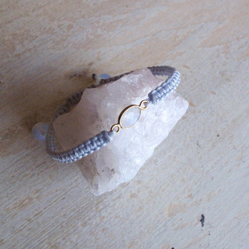 magic and mystery moonstone macrame bracelet