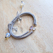 Load image into Gallery viewer, magic and mystery moonstone macrame bracelet