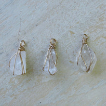 Load image into Gallery viewer, gold wrapped moonstone small point necklace