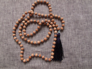 spiritual threads mala rosewood and indigo