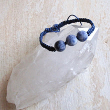 Load image into Gallery viewer, communication sodalite macrame bracelet