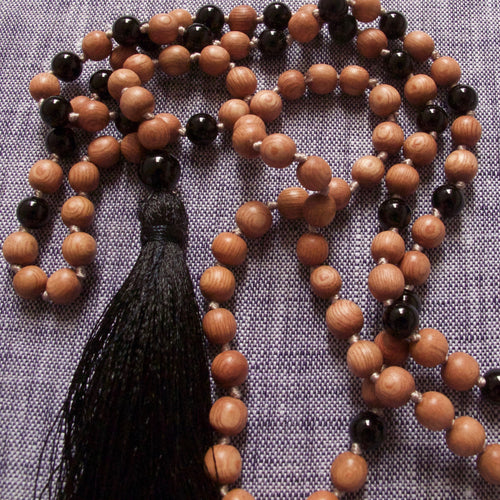grounded and protected rosewood mala