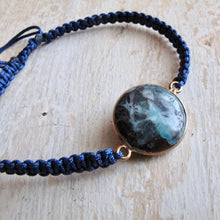 Load image into Gallery viewer, power of water chrysocolla macrame bracelet