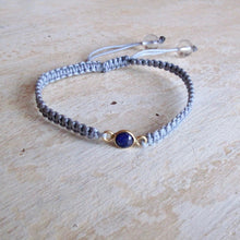 Load image into Gallery viewer, trust sapphire macrame bracelet