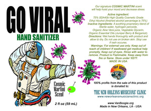 GO VIRAL Hand Sanitizer -  2-fl.oz. - Benefiting New Orleans Musicians' Clinic