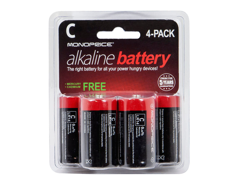 Monoprice C Alkaline Battery 4‑Pack - SimplyASP Tech