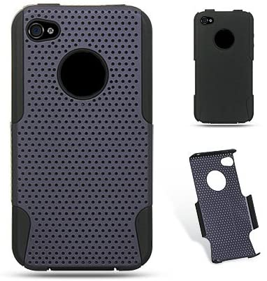 Hybrid Case for iPhone 4/4S - Black/Purple