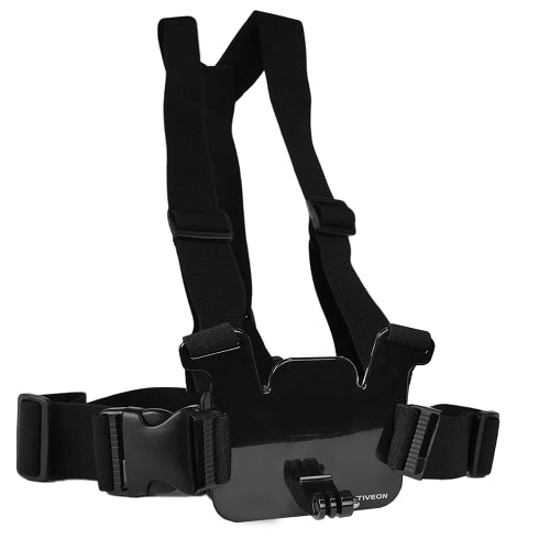 ACTIVEON Chest Strap for Action Cameras w/Bag (Black) - GoPro Compatible - SimplyASP Tech