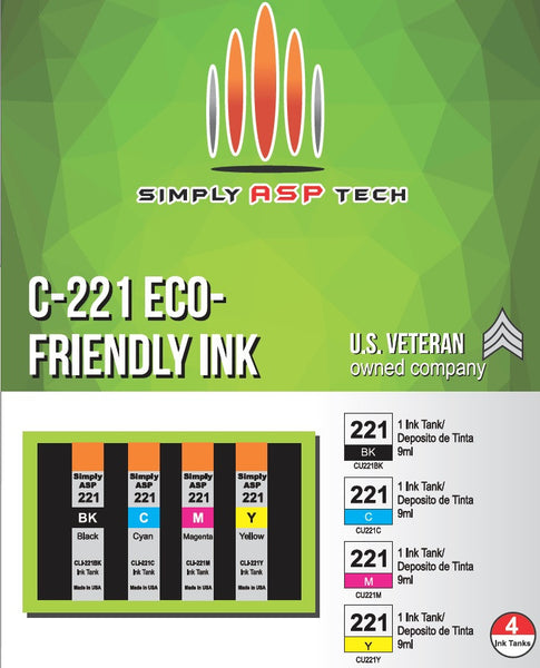 SimplyASP Tech C-221 Eco-Friendly Ink - SimplyASP Tech