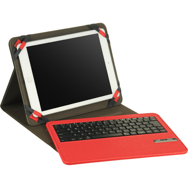 UNIVERSAL 9-10 INCHES TABLET FOLIO COVER WITH BT KEYBOARD HOT PINK