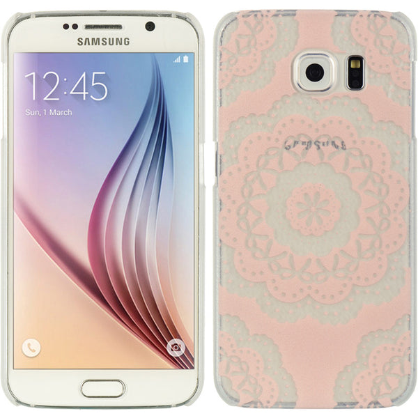 SAMSUNG GALAXY S6 CRYSTAL CASE LACE COUTURE11-FLOWER