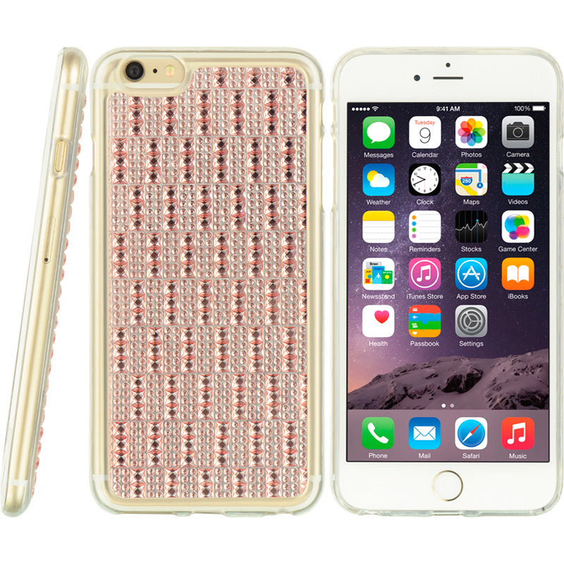 FOR IPHONE 6 PLUS/6S PLUS CRYSTAL TPU CASE BEDAZZLED PINK