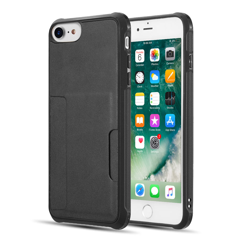 THE INFINITY SERIES TPU BACK COVER CASE FOR IPHONE SE (2020) / 8 / 7 / 6 (COMBO PIECE) - BLACK