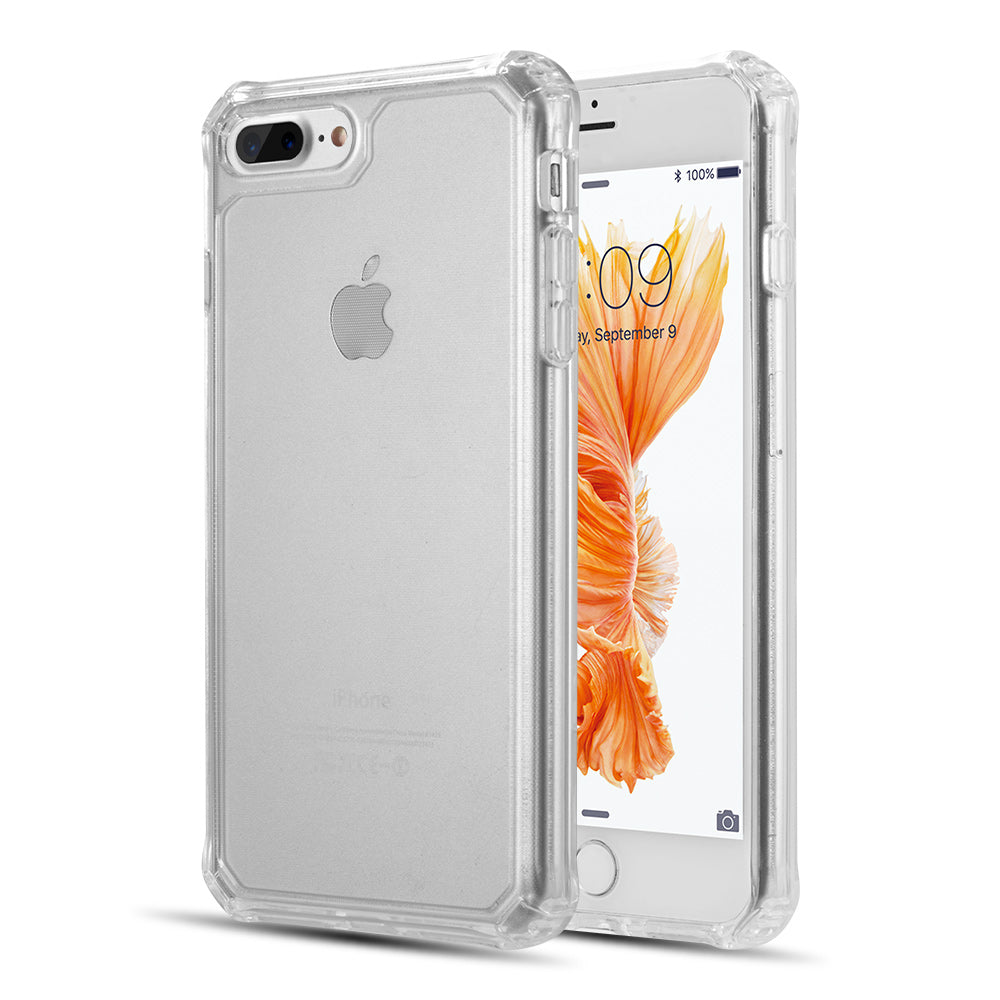 CLEAR GUARD THICK TPU WITH SHOCKPROOF CORNERS FOR EXTRA PROTECTION FOR IPHONE 8 / 7 PLUS - CLEAR