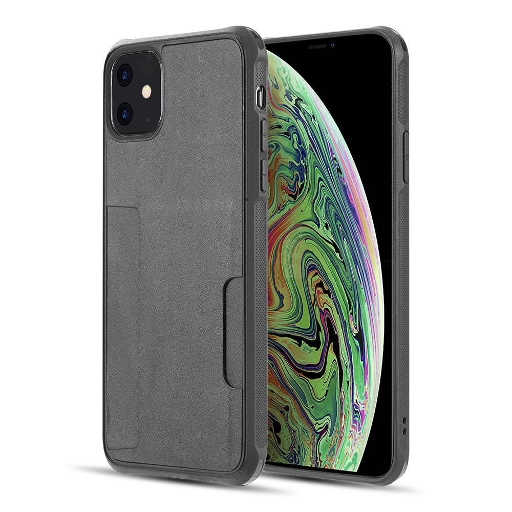 THE INFINITY SERIES TPU BACK COVER CASE FOR IPHONE 11 (COMB PIECE) - BLACK