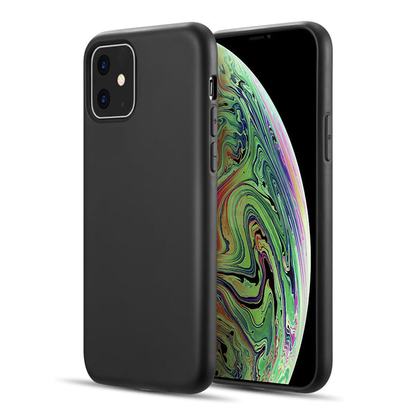 SIMPLEMADE SLIM LIQUID SILICONE BACK COVER CASE FOR IPHONE 11 - BLACK