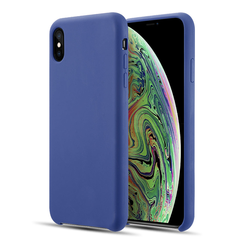 THE SIMPLEMADE LIQUID SILICONE BACK COVER CASE FOR IPHONE XS MAX - COBALT BLUE