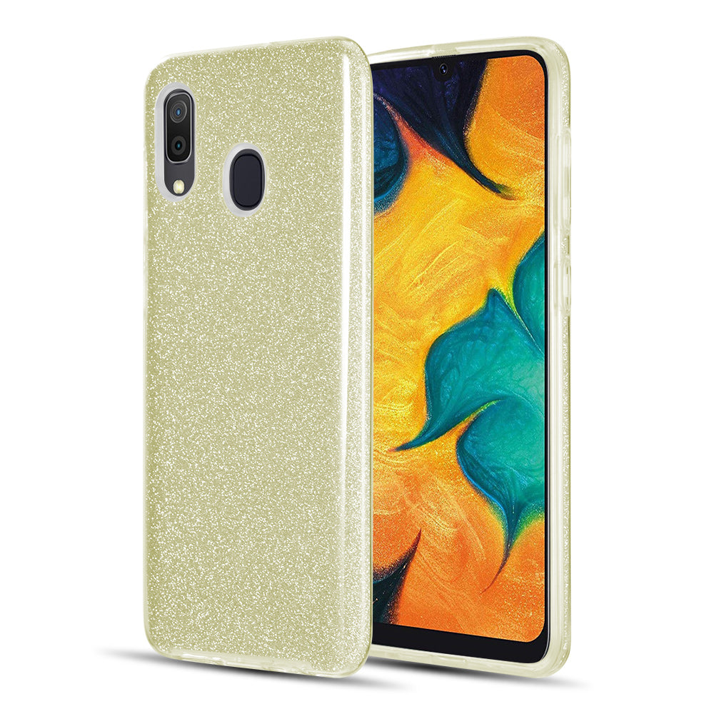 SAMSUNG GALAXY A20 / A30 / A50 STARRY DAZZLE LUXURY TPU COVER CASE - GOLD