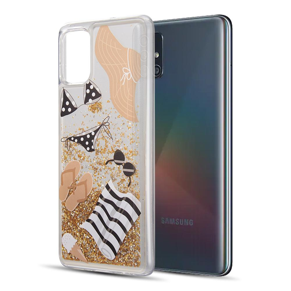 WATERFALL LIQUID SPARKLING QUICKSAND CASE FOR SAMSUNG GALAXY A51 - FLORAL BLISS