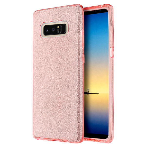 SAMSUNG GALAXY NOTE 8 STARRY DAZZLE LUXURY TPU COVER CASE - PINK