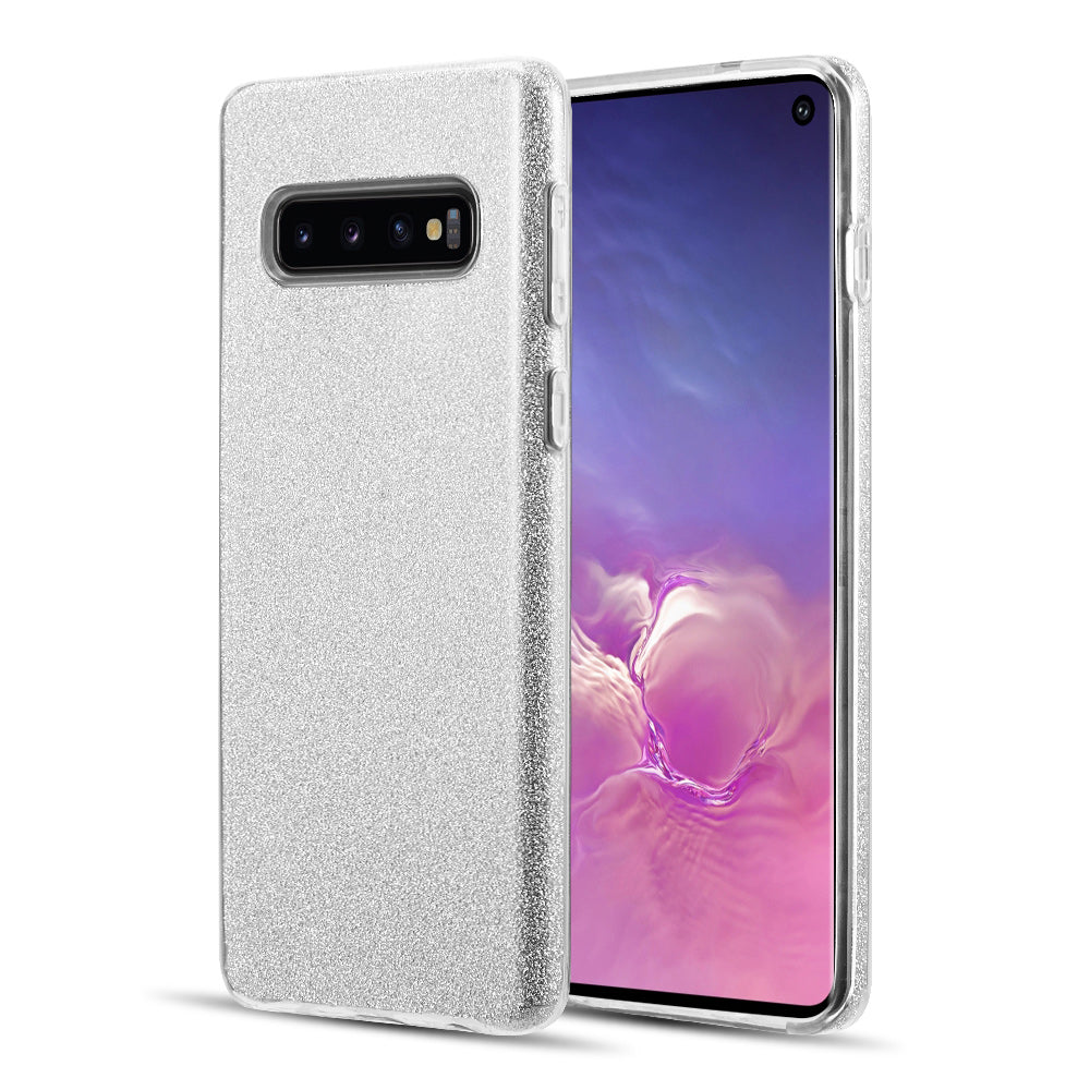 SAMSUNG GALAXY S10 STARRY DAZZLE LUXURY TPU COVER CASE - SILVER