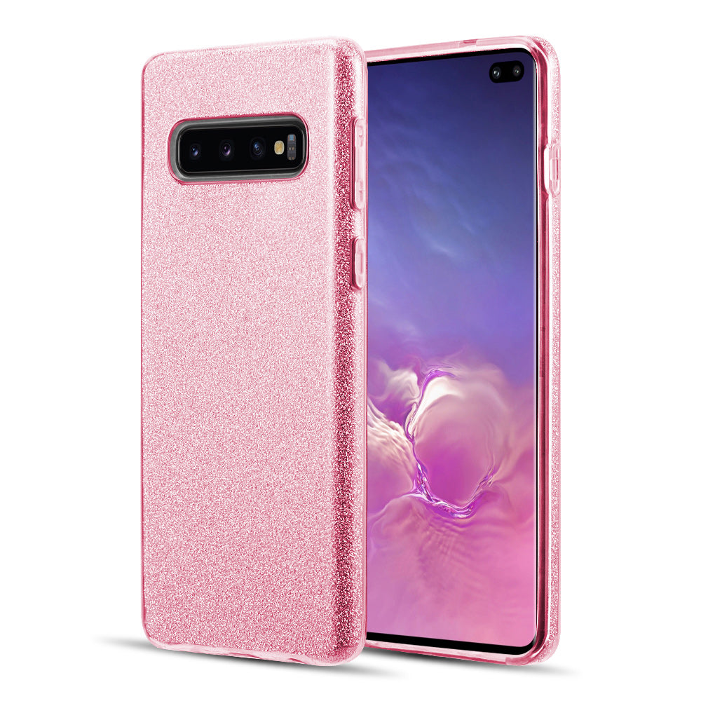 SAMSUNG GALAXY S10 PLUS STARRY DAZZLE LUXURY TPU COVER CASE PINK