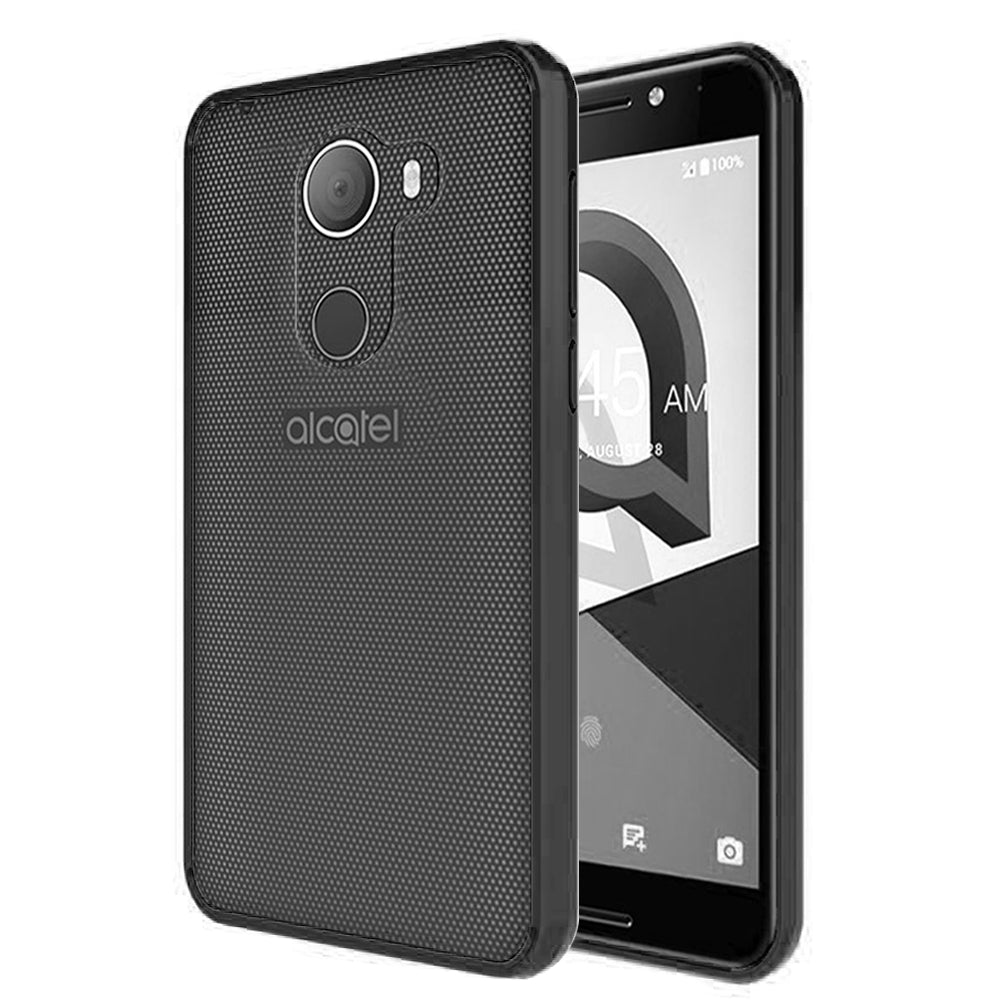 ALCATEL REVVL FUSION CANDY TPU WITH CLEAR ACRYLIC BACK - BLACK