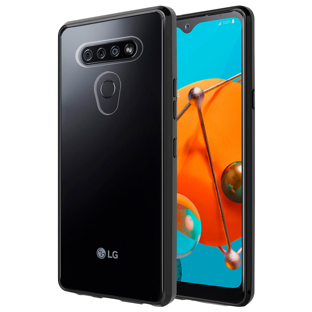 FUSION CANDY TPU WITH CLEAR ACRYLIC BACK FOR LG K51 - BLACK