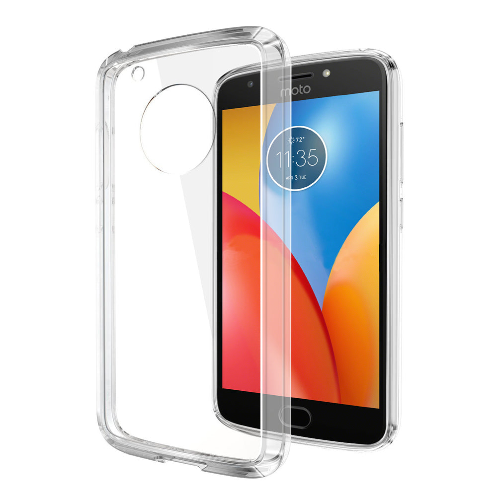 MOTO E4 PLUS FUSION CANDY TPU WITH CLEAR ACRYLIC BACK - CLEAR